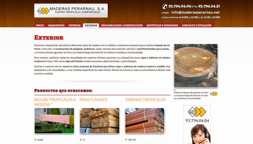Maderas Perarnau (Joomla) 2