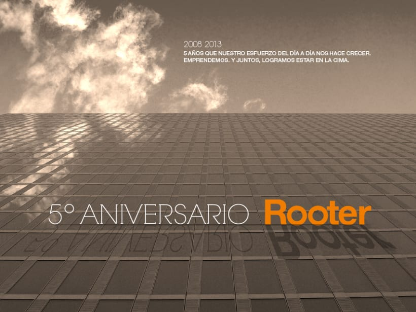 Imagen corporativa - 5º Aniversario ROOTER 6