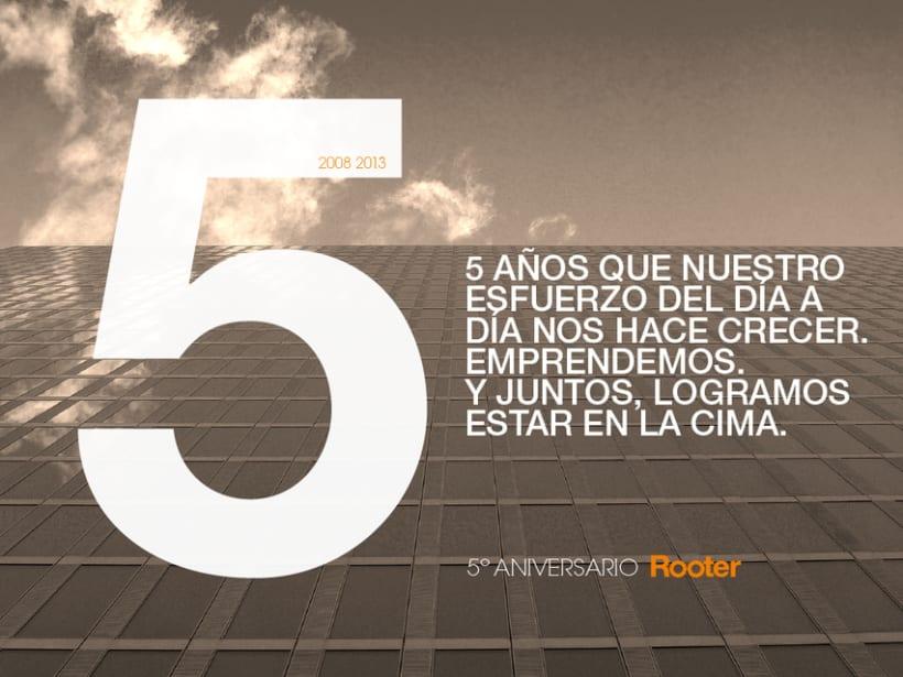 Imagen corporativa - 5º Aniversario ROOTER 5