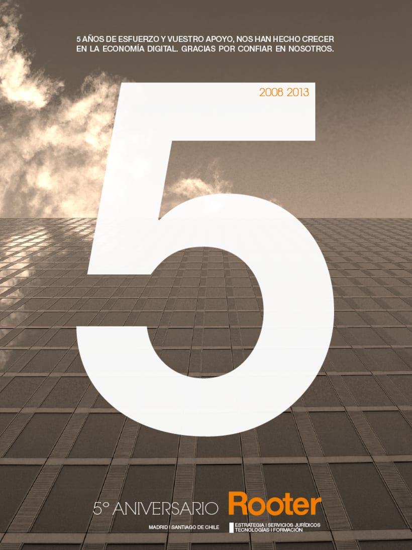 Imagen corporativa - 5º Aniversario ROOTER 3
