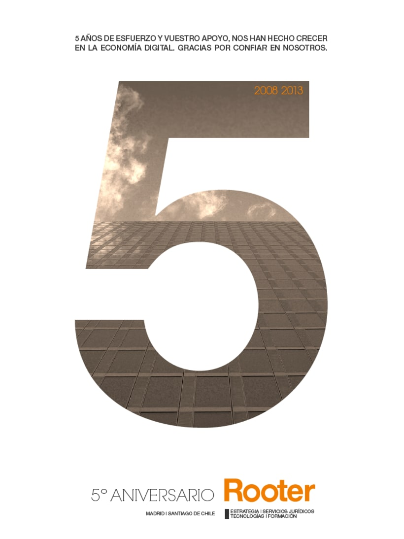 Imagen corporativa - 5º Aniversario ROOTER 4