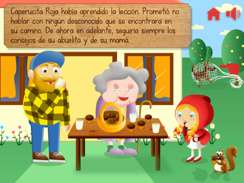 """Cuento infantil interactivo """"Caperucita Roja"""" 23"""