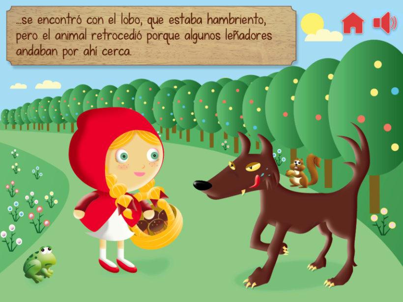 """Cuento infantil interactivo """"Caperucita Roja"""" 12"""