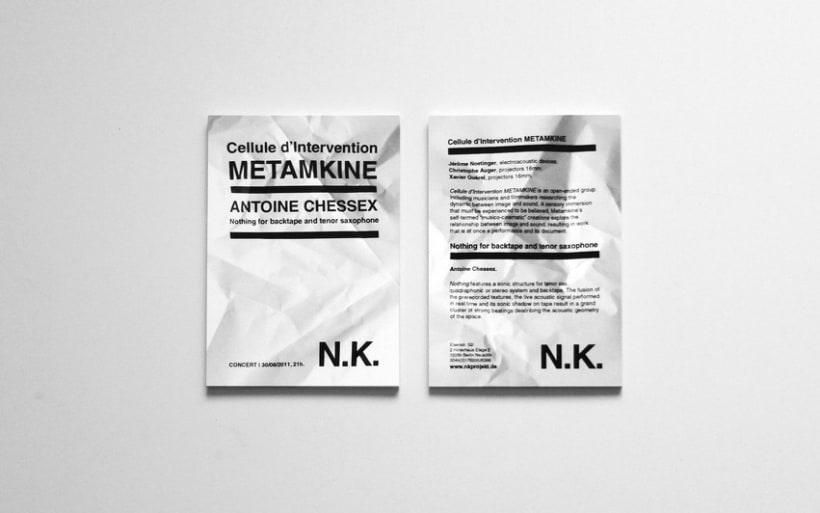 NK FLYERS | PAPER SERIES 1