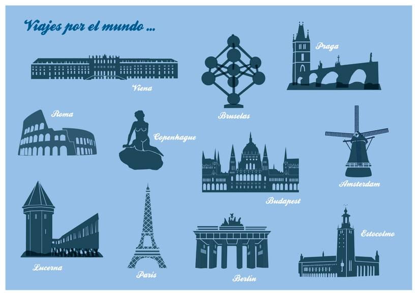 Nuestros Viajes Por Europa Domestika