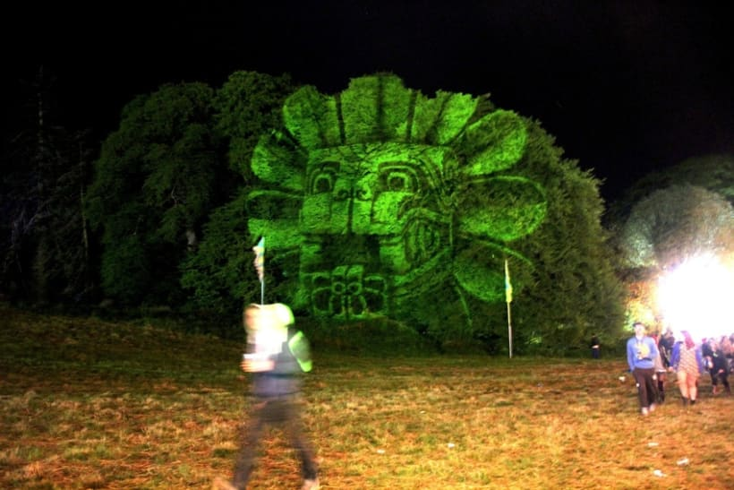 3D light projections on trees 7