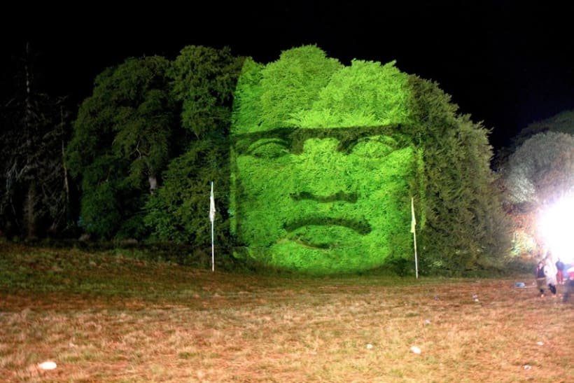 3D light projections on trees 5