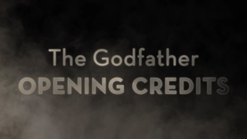 Trailer The Godfather Opening Credits 6