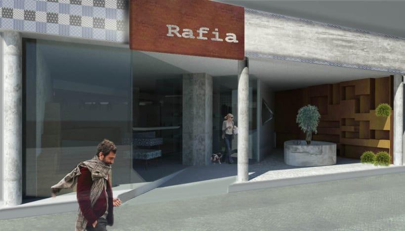 Rafia, floristeria café 1