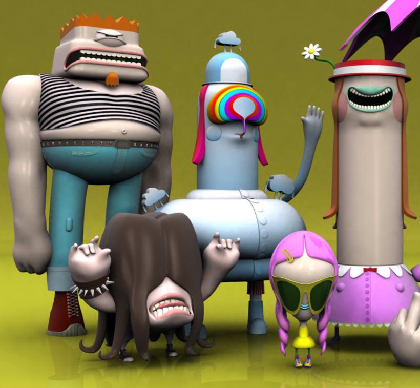 3D Characters . Vol I 3