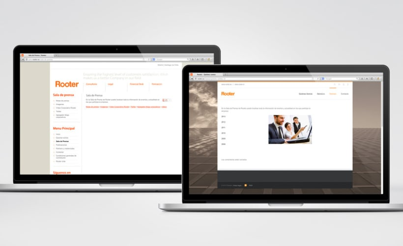 Restyling web Rooter 8