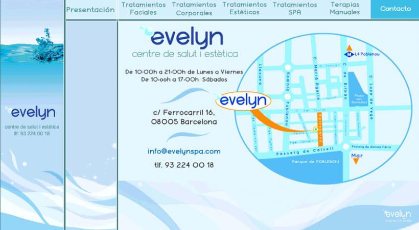 Diseño y creación web Evelyn (Centro de estética). 2
