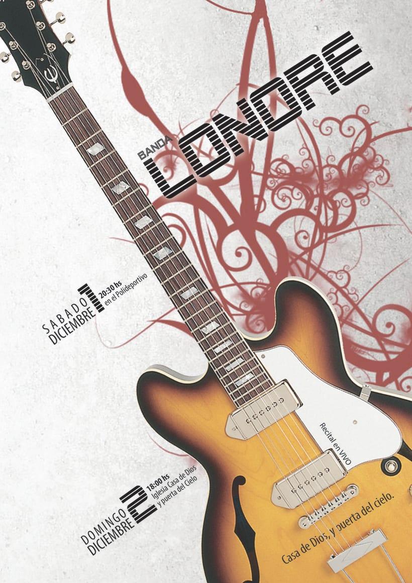 Afiche promocional para recital 2
