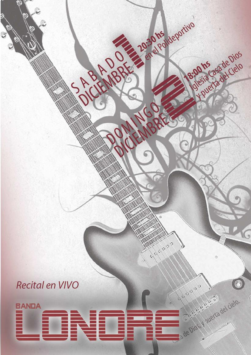 Afiche promocional para recital 4