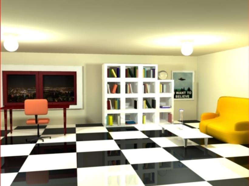 RENDER habitacion 3d maya 2