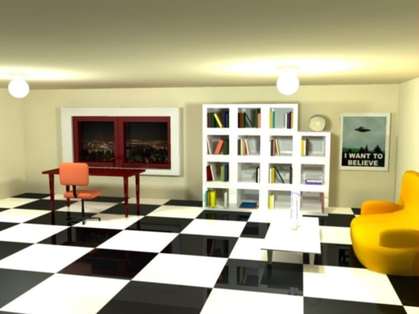 RENDER habitacion 3d maya 1