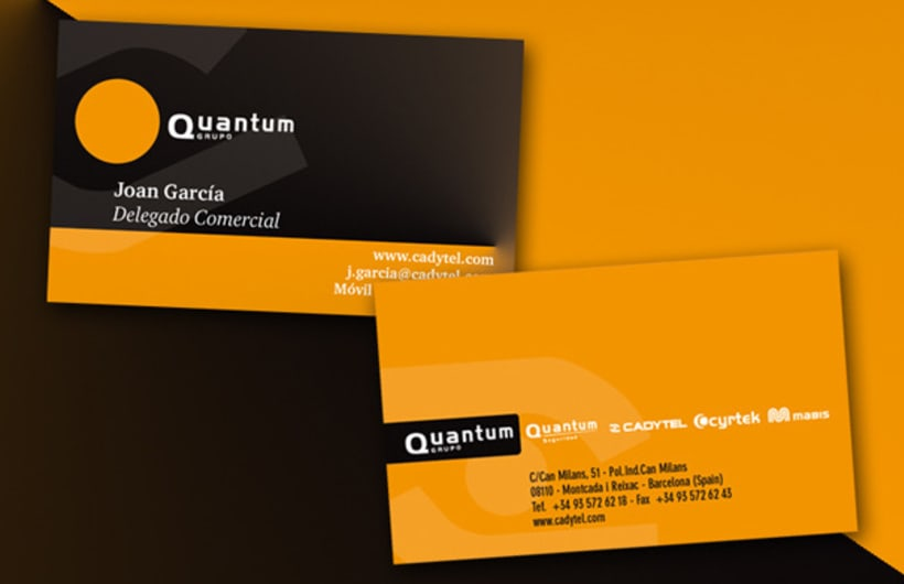 Tarjetas de visita Grupo Quantum 1