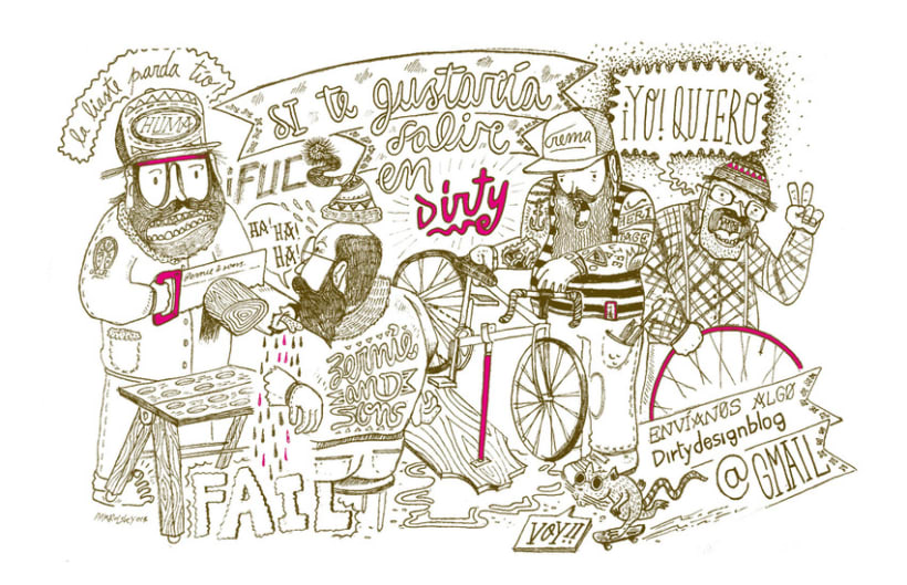 Illustration for Dirty blog 1