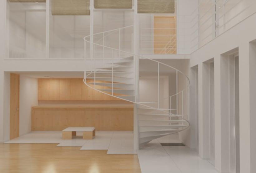 render de un interior (texturizado e iluminación) 1