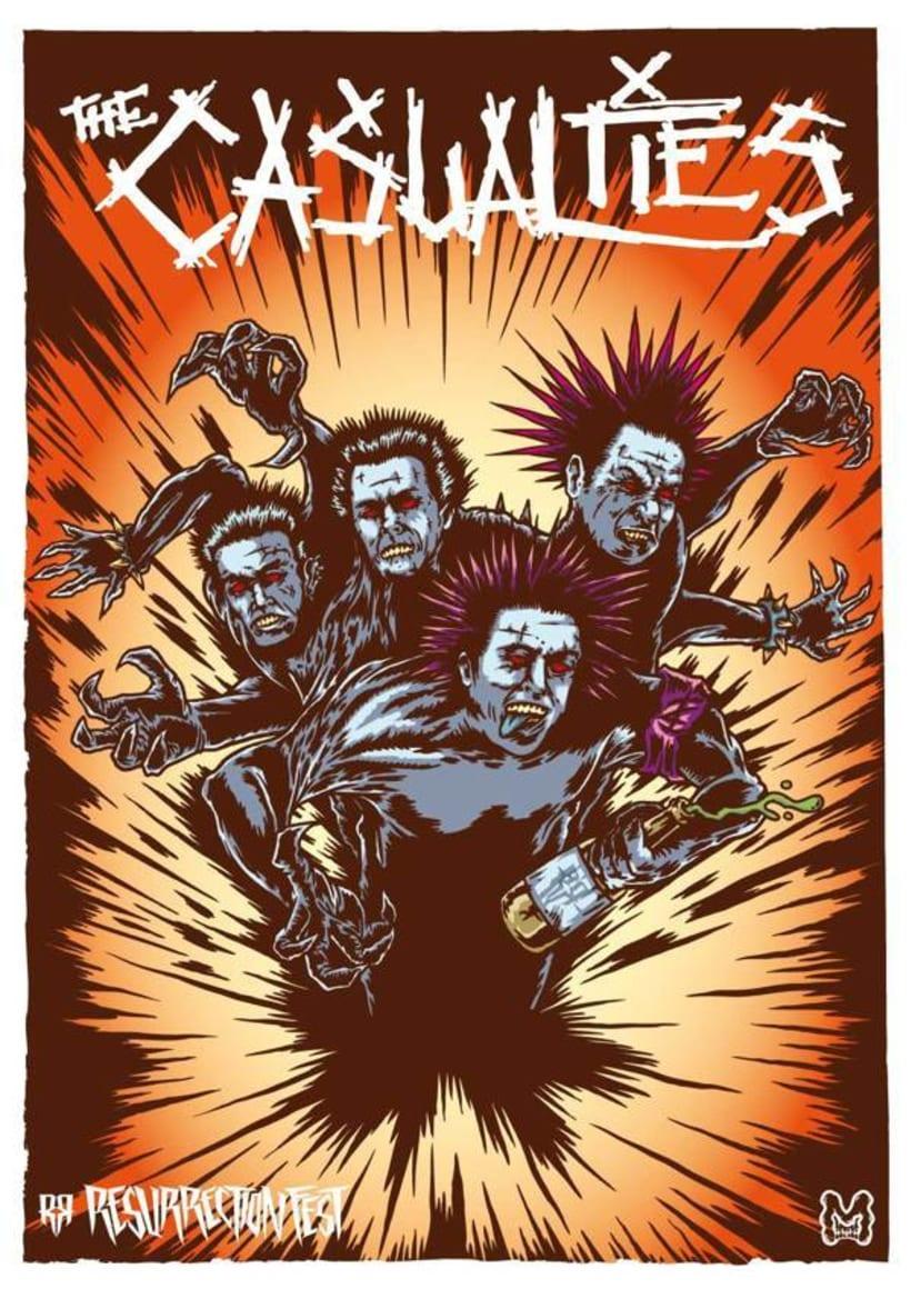 Resurrection Fest 2013 - Ilustraciones Bandas 13