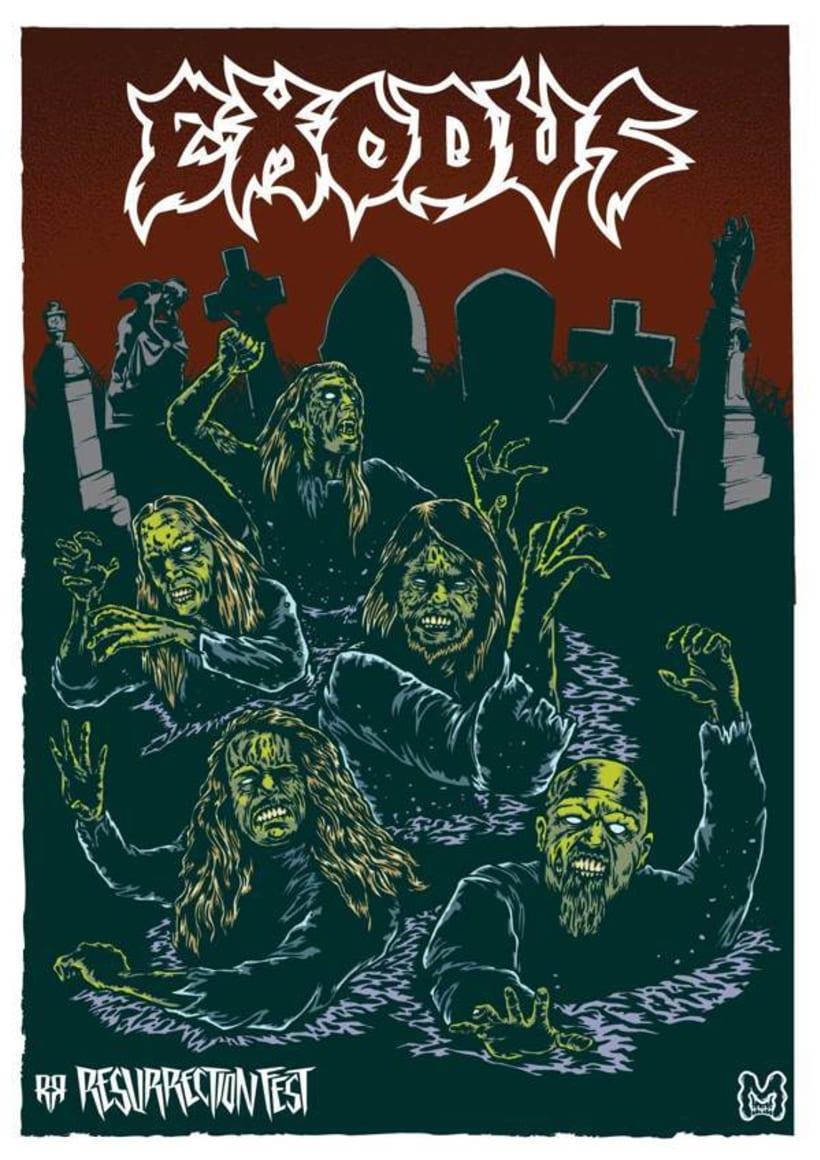 Resurrection Fest 2013 - Ilustraciones Bandas 12