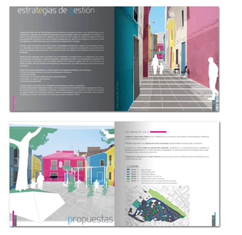 Diseño y maquetación de folleto para el Plan de integración Urbana del barrio de San Juan en Aspe  1