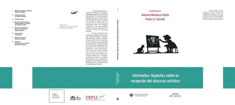 Diseño e ilustración de portadas de libros. C.I.D.I (Centro de Investigación de la Imagen),  servicio publicaciones UCLM. 2