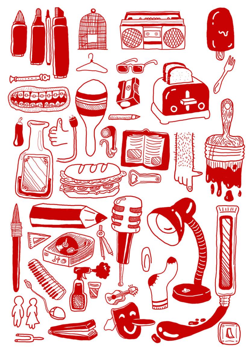 Red pattern 1