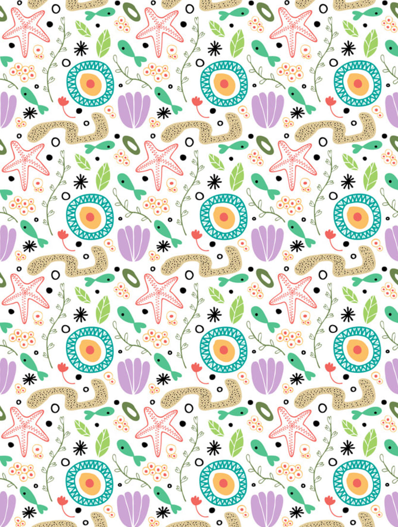 Sea plants pattern 1
