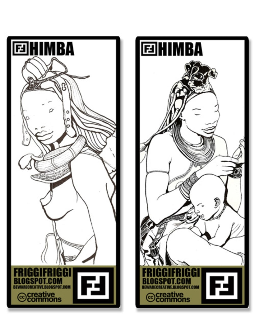 More about Himbas. Illustrations and T-shirts 1