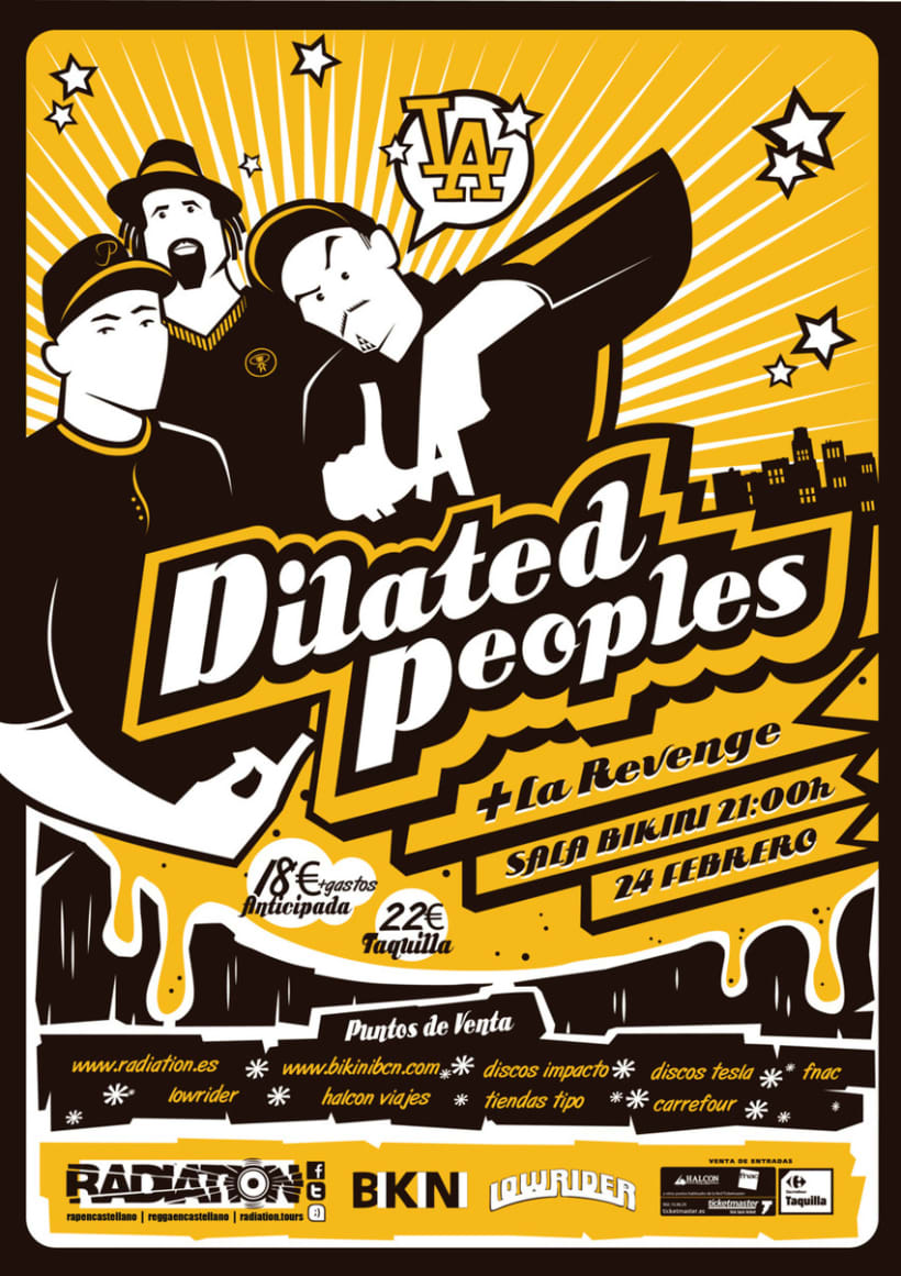 Dilated Peoples Tour Poster 1