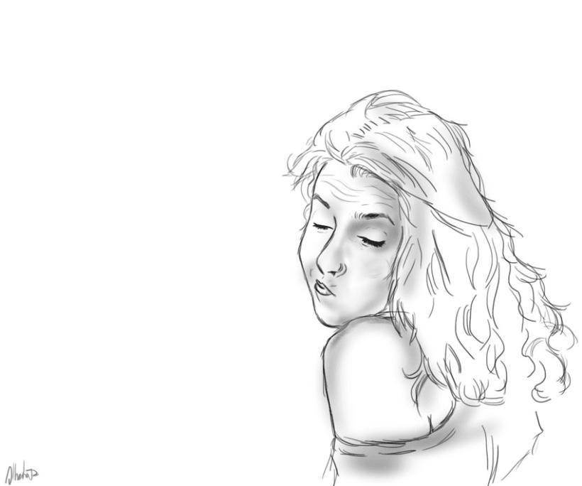 Dibujo a lineas Jess  Domestika