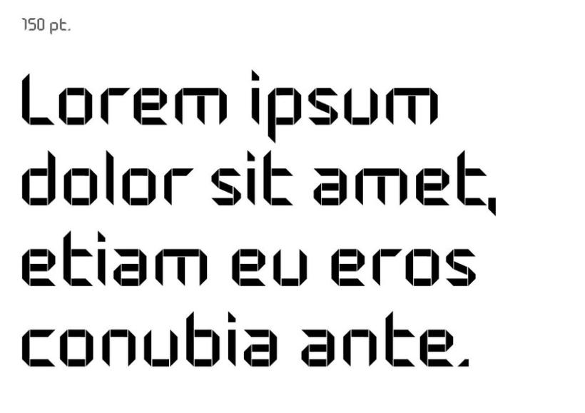 Tipografía modular 8
