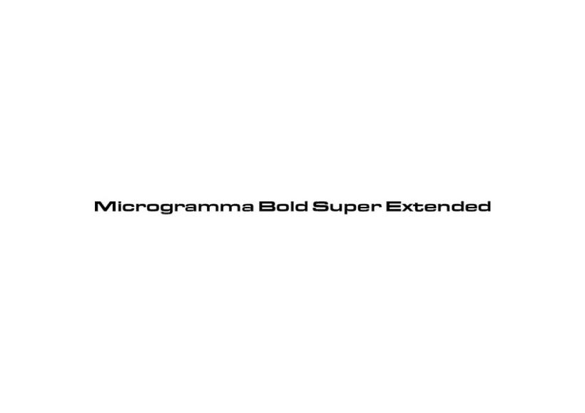 Microgramma Bold Super Extended 1