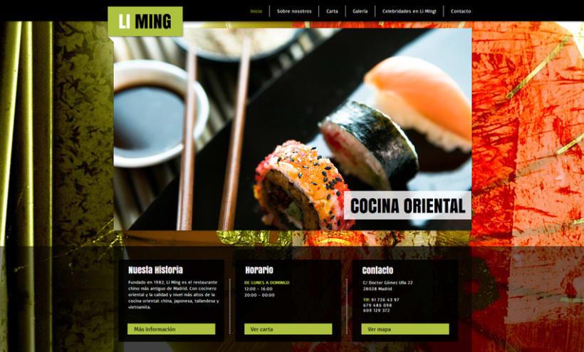 Restaurante Li Ming - Diseño, gestión, maquetación y programación web. 2