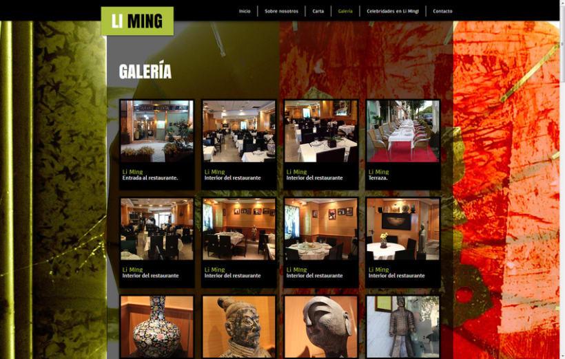 Restaurante Li Ming - Diseño, gestión, maquetación y programación web. 4