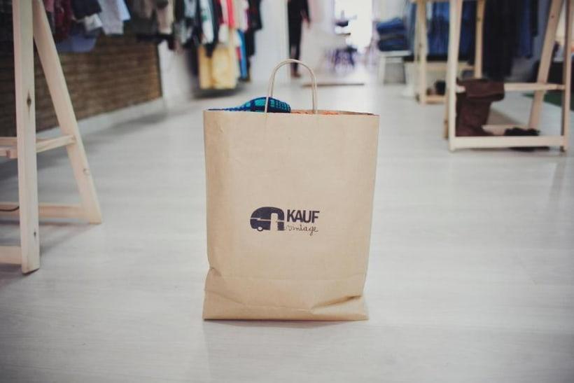 tote + paper bag KAUF vintage 1