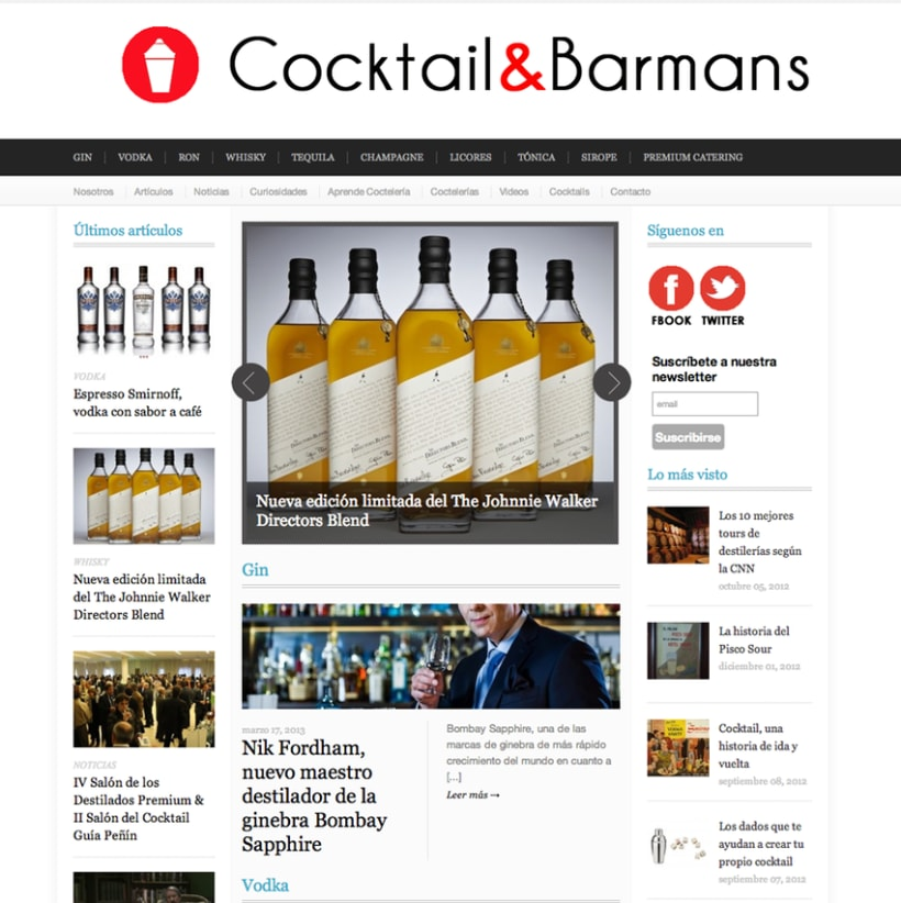 Web Design Cocktail & Barmans 1