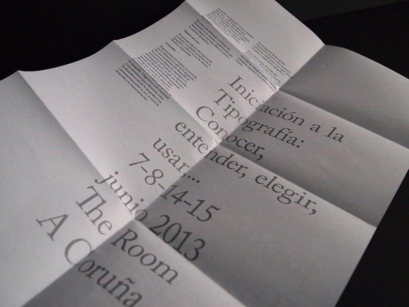 Cartel curso de tipografía 10