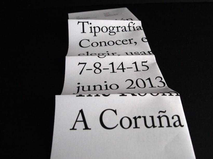 Cartel curso de tipografía 7