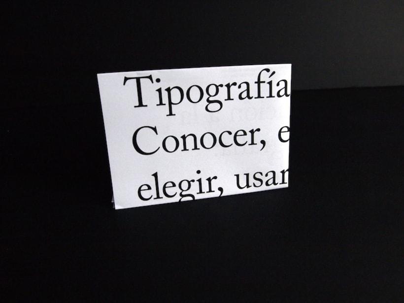 Cartel curso de tipografía 5