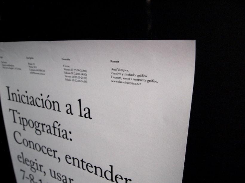 Cartel curso de tipografía 3
