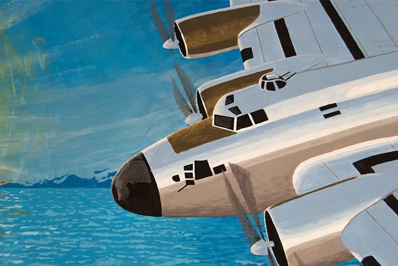 Mural | Avión Sobre Playa 4