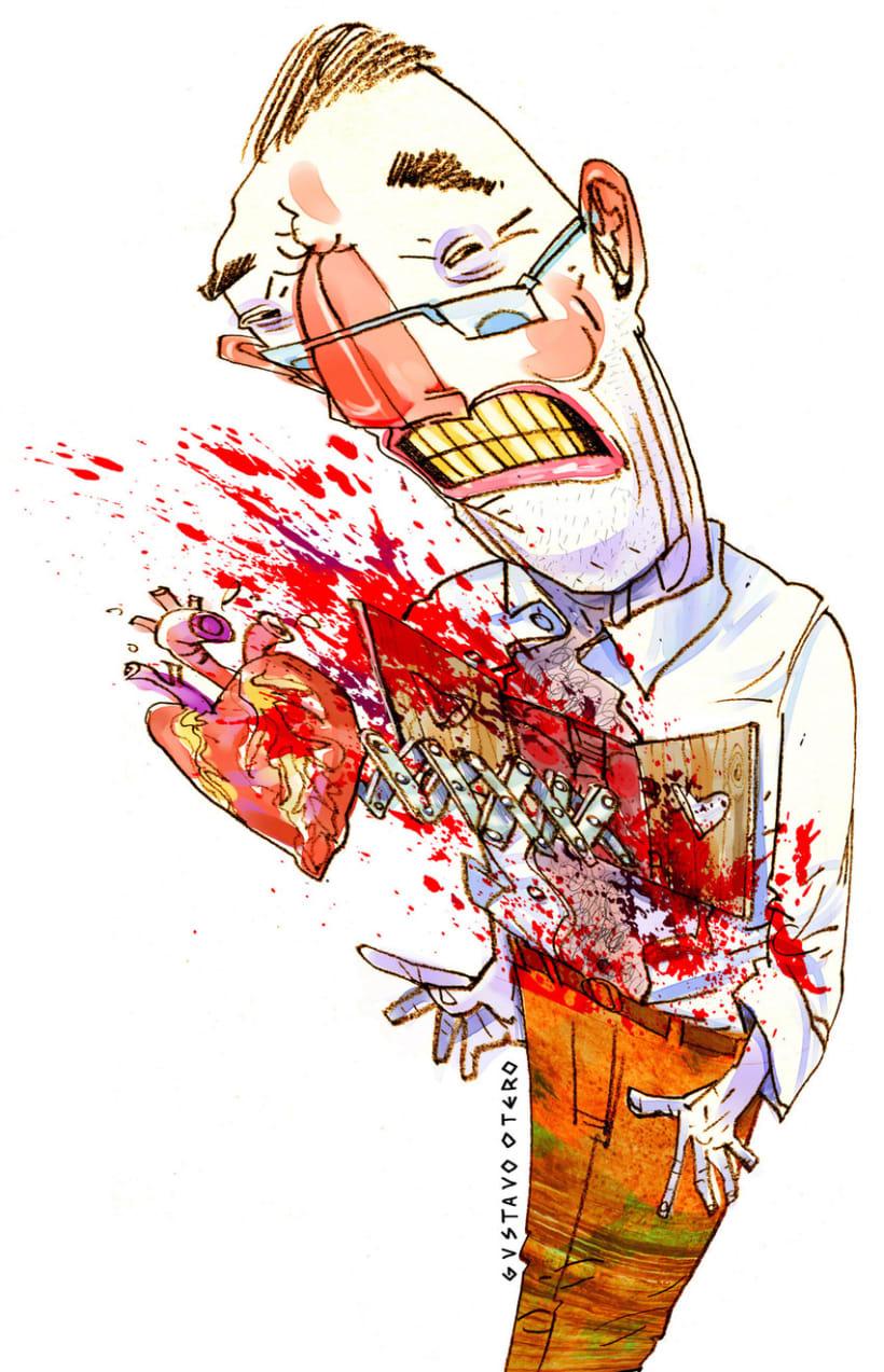 Ilustraciones Gustavo Otero revista Interviú 17