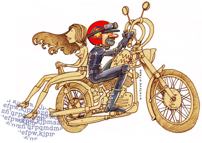 Ilustraciones Gustavo Otero revista Interviú 12