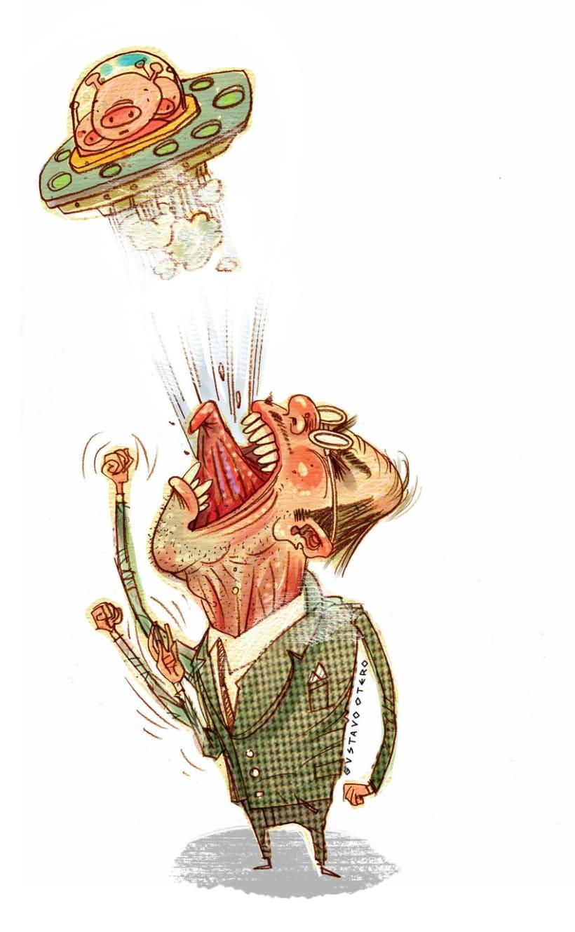 Ilustraciones Gustavo Otero revista Interviú 11