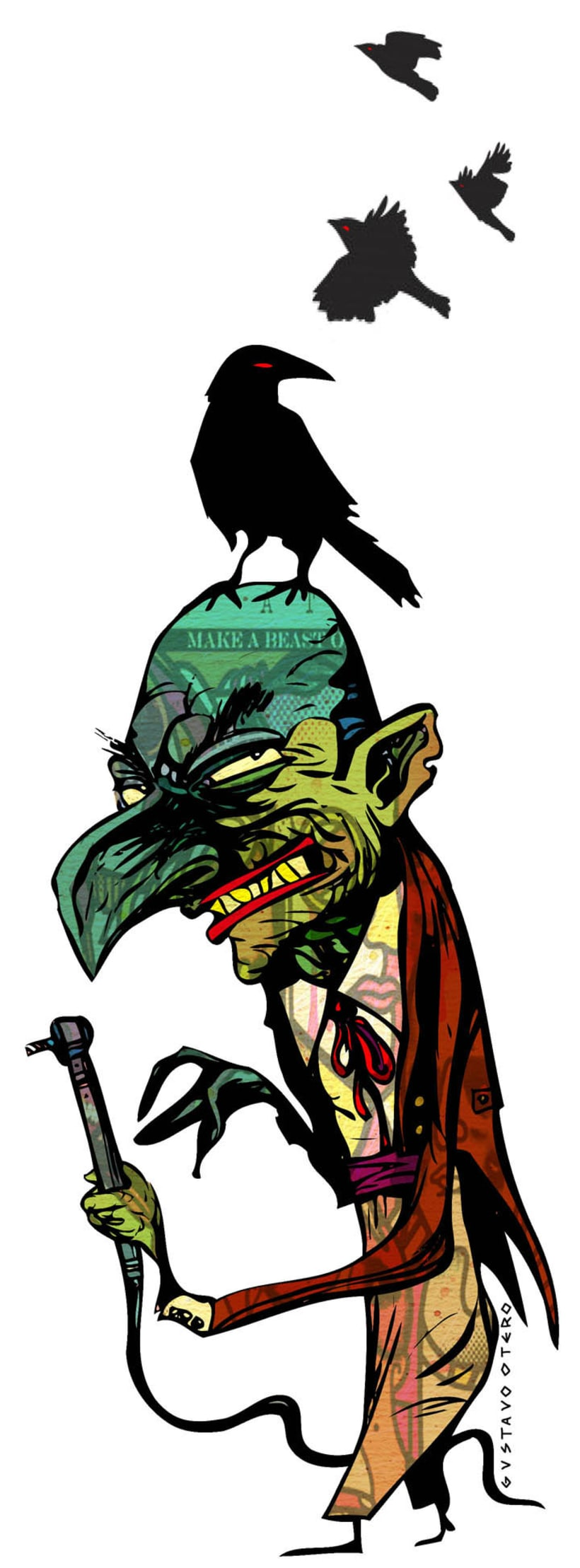 Ilustraciones Gustavo Otero revista Interviú 3