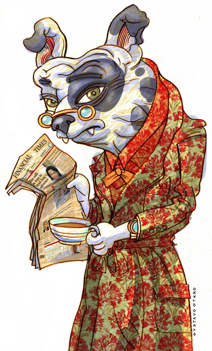 Ilustraciones Gustavo Otero revista Interviú 2
