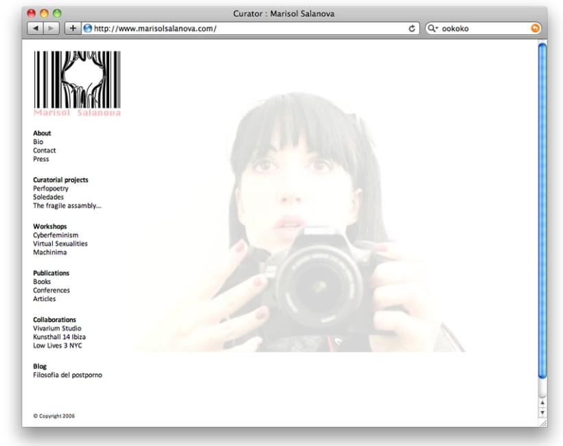 Diseño y creación web Marisol Salanova (Curator). 0