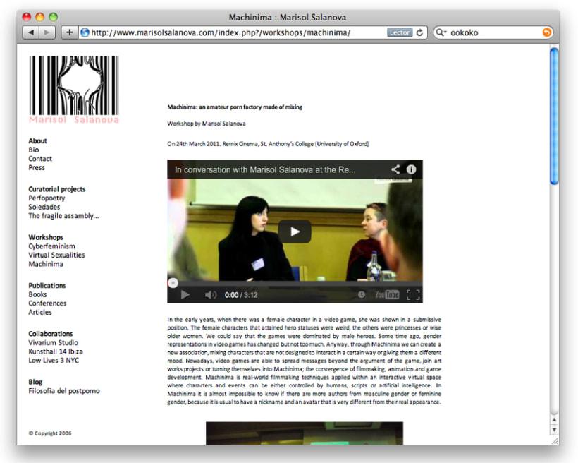 Diseño y creación web Marisol Salanova (Curator). 2